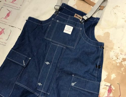 Nigel Cabourn naval dungaree denim