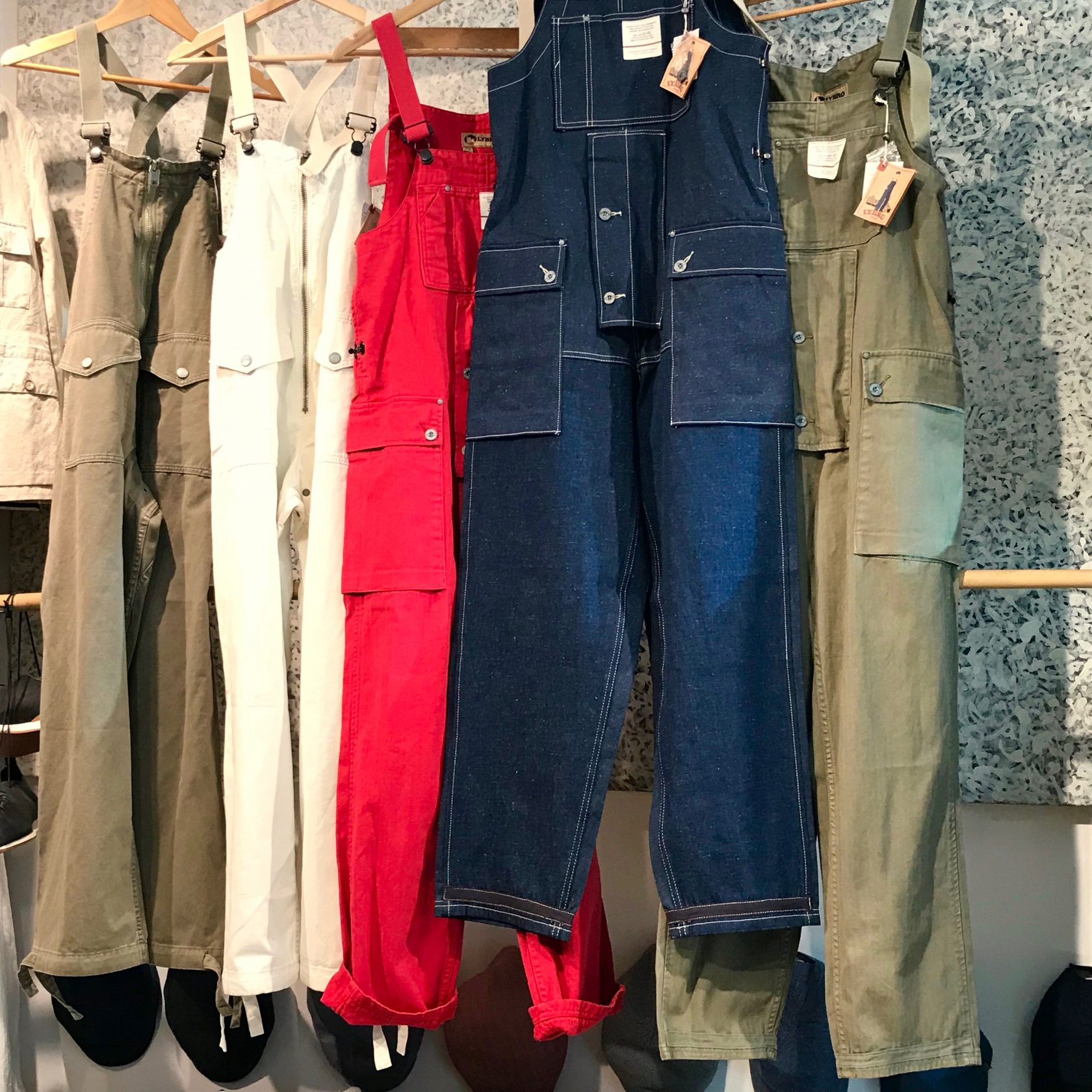 Nigel Cabourn dungarees and deck waders