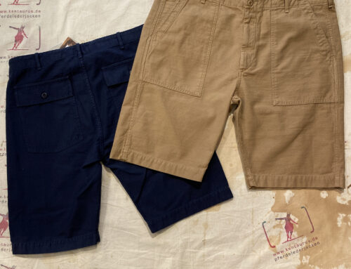 Tellason shorts navy and british tan