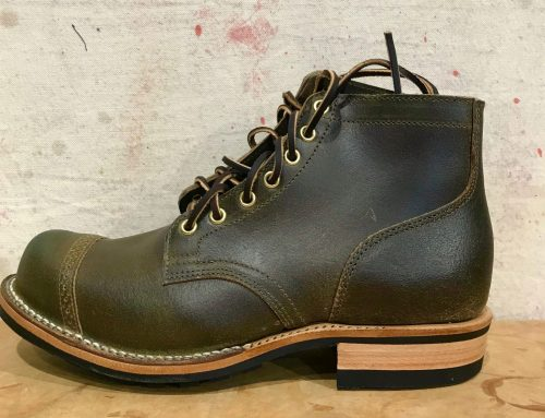 Viberg service boot dark olive waxed flesh