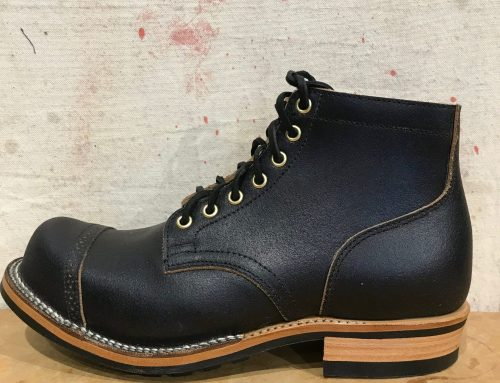Viberg Service Boot black waxed flesh
