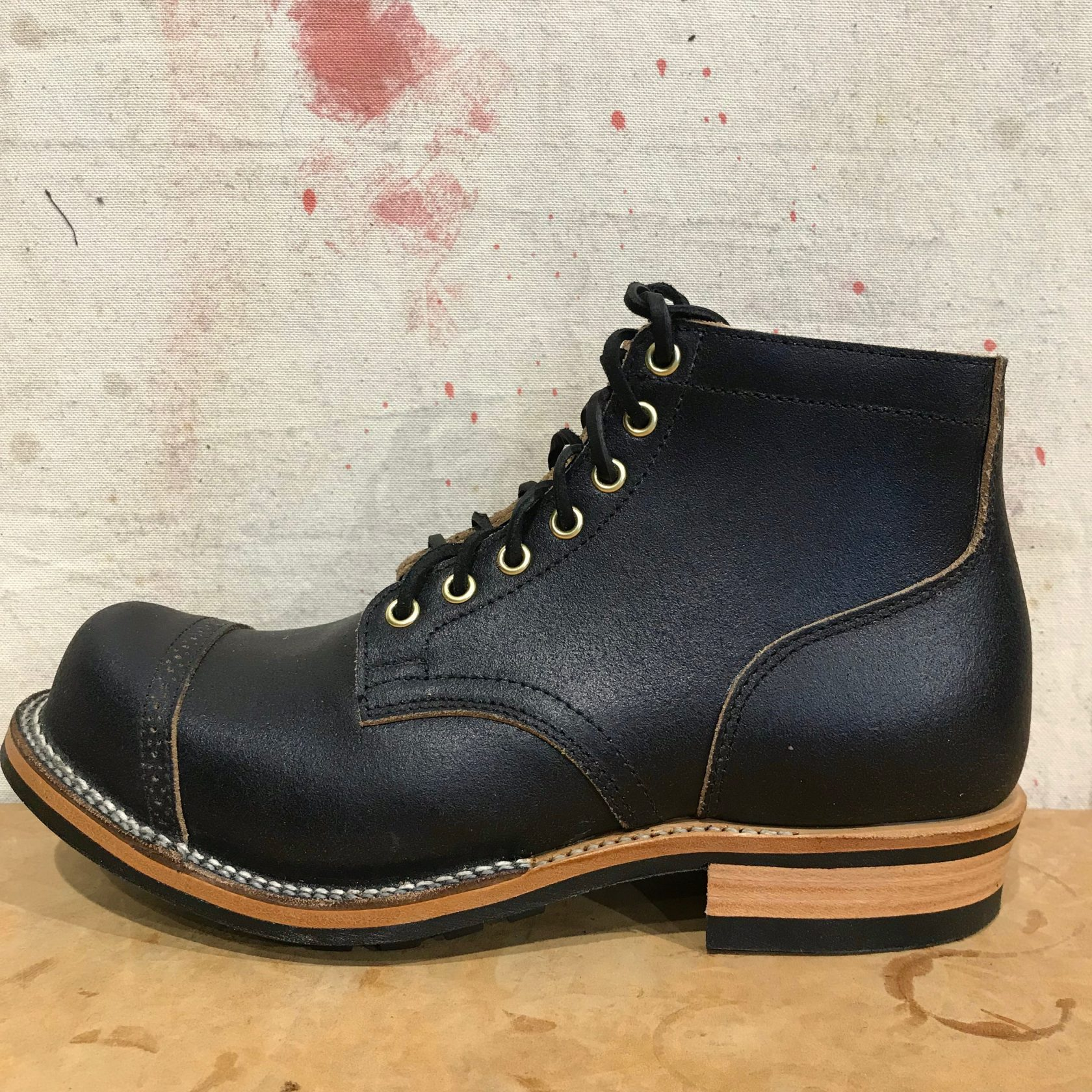 Viberg Service Boot black waxed flesh