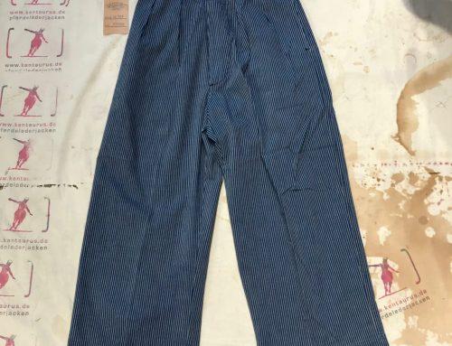 Scartilab W901SM207 Wide Leg Pant Blue Striped