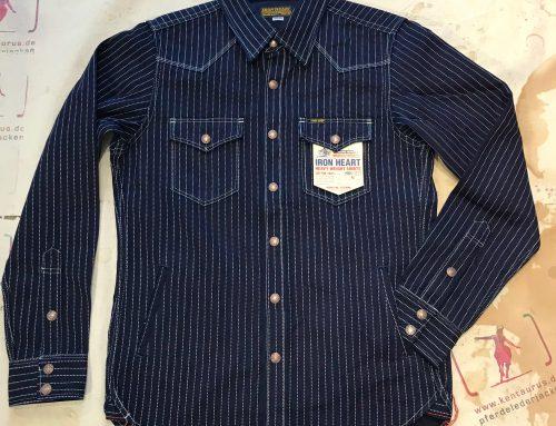 Iron Heart: IHSH-227 indigo wabash cpo shirt