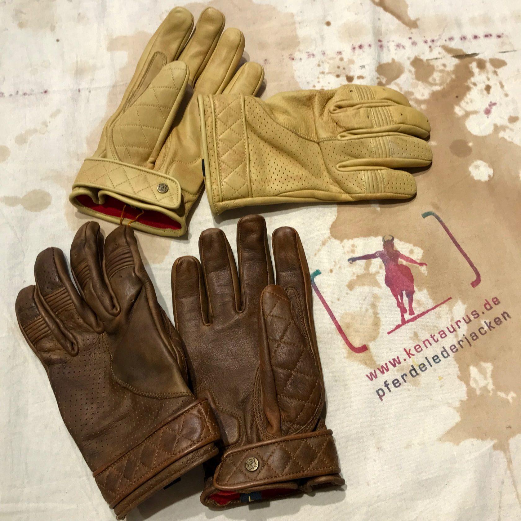 Goldtop, UK: bobber gloves brown and tan