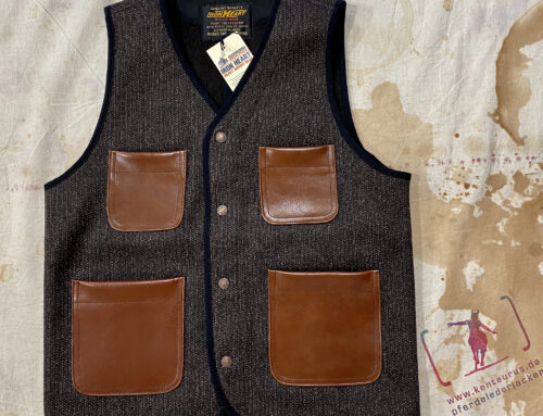 Iron Heart IHV-40 Browns Beach Cloth Vest Brown