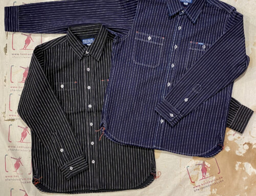 Iron Heart IHSH-68 blk and indigo wabash work shirt