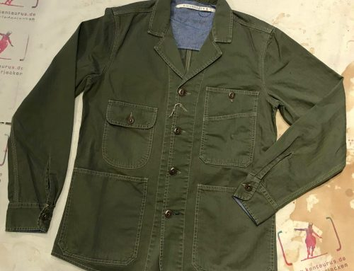 Scartilab cotton shirt jacket olive