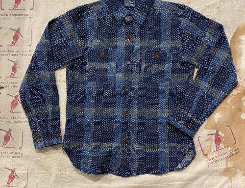 Studio D´Artisan 5651 Noragi Sashiko Shirt Blue