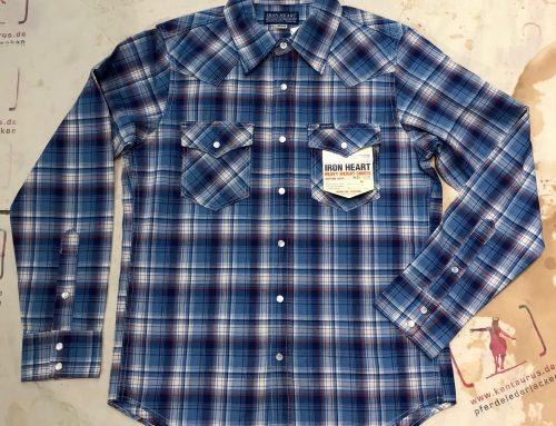 IHSH-220 indigo madras check western shirt