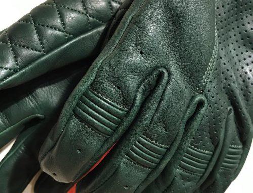 Goldtop: bobber gloves british racing green