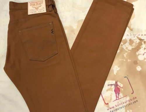 Iron Heart IH-777D brown duck slim tapeered