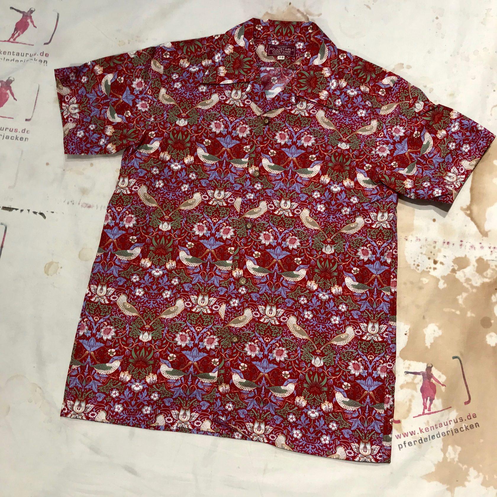 Adjustable Costume open collar shirt red
