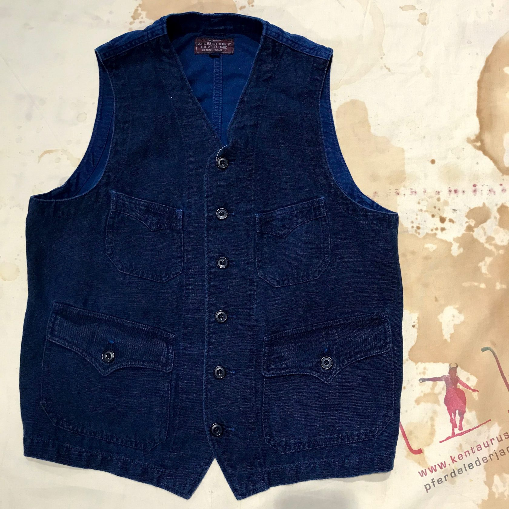 Adjustable Costume: palm beach linen  work vest