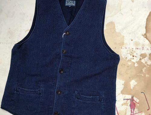 Studio D`Artisan indigo dobby cloth vest