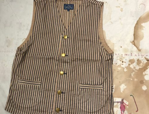 Studio D`Artisan striped rail road vest