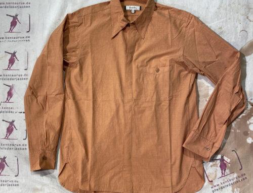 MotivMfg tab collar shirt sun dried typewriter salmon