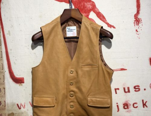 East Harbour Surplus leather waist coat