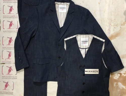 Hansen  3 piece suit real indigo co/vi/li
