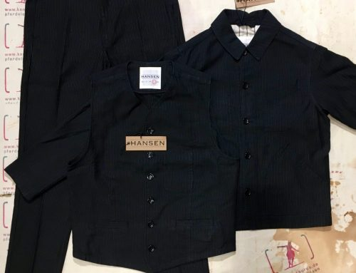 Hansen  3piece work suit black pin