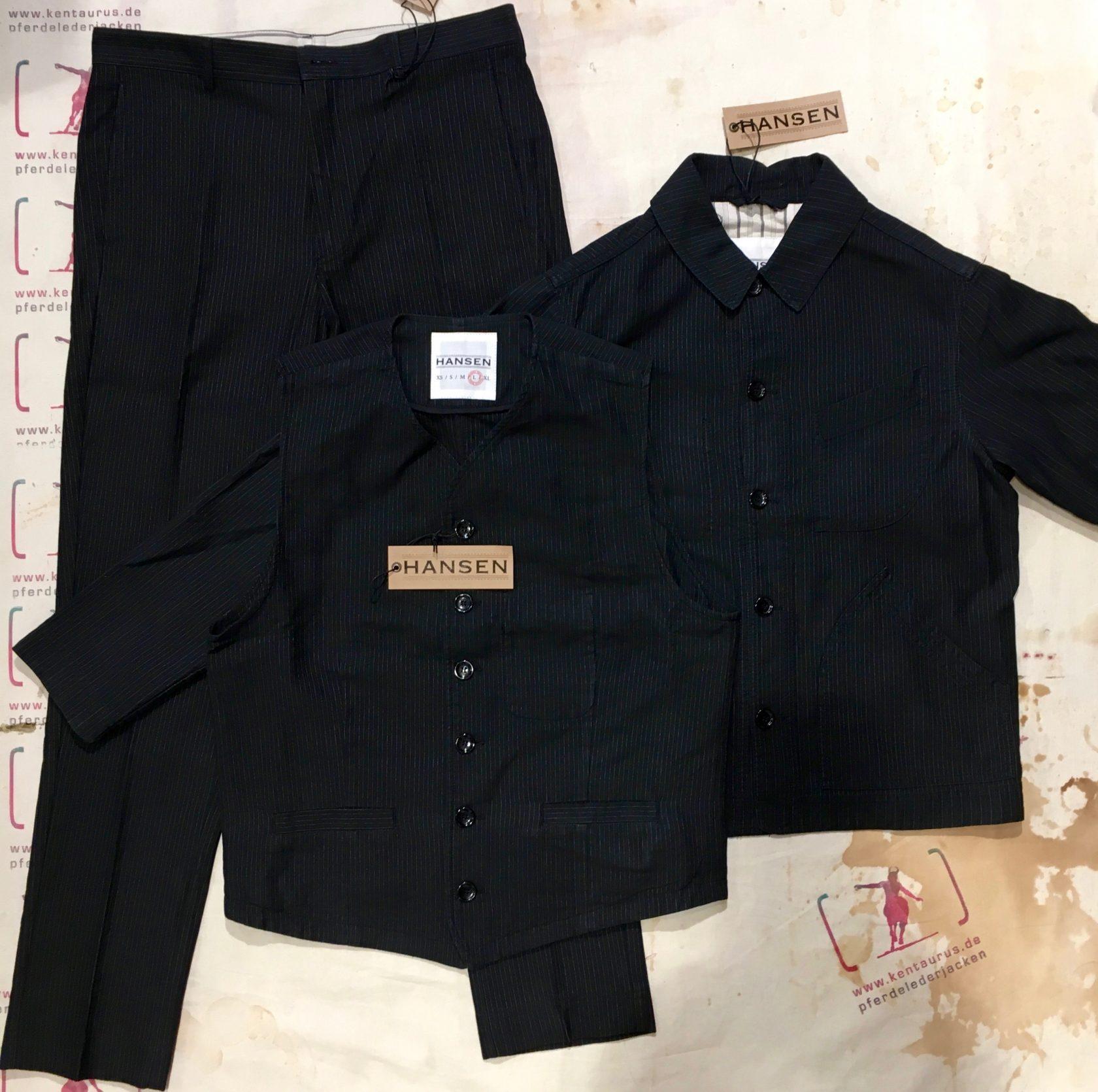 Hansen  3piece work suit black pin
