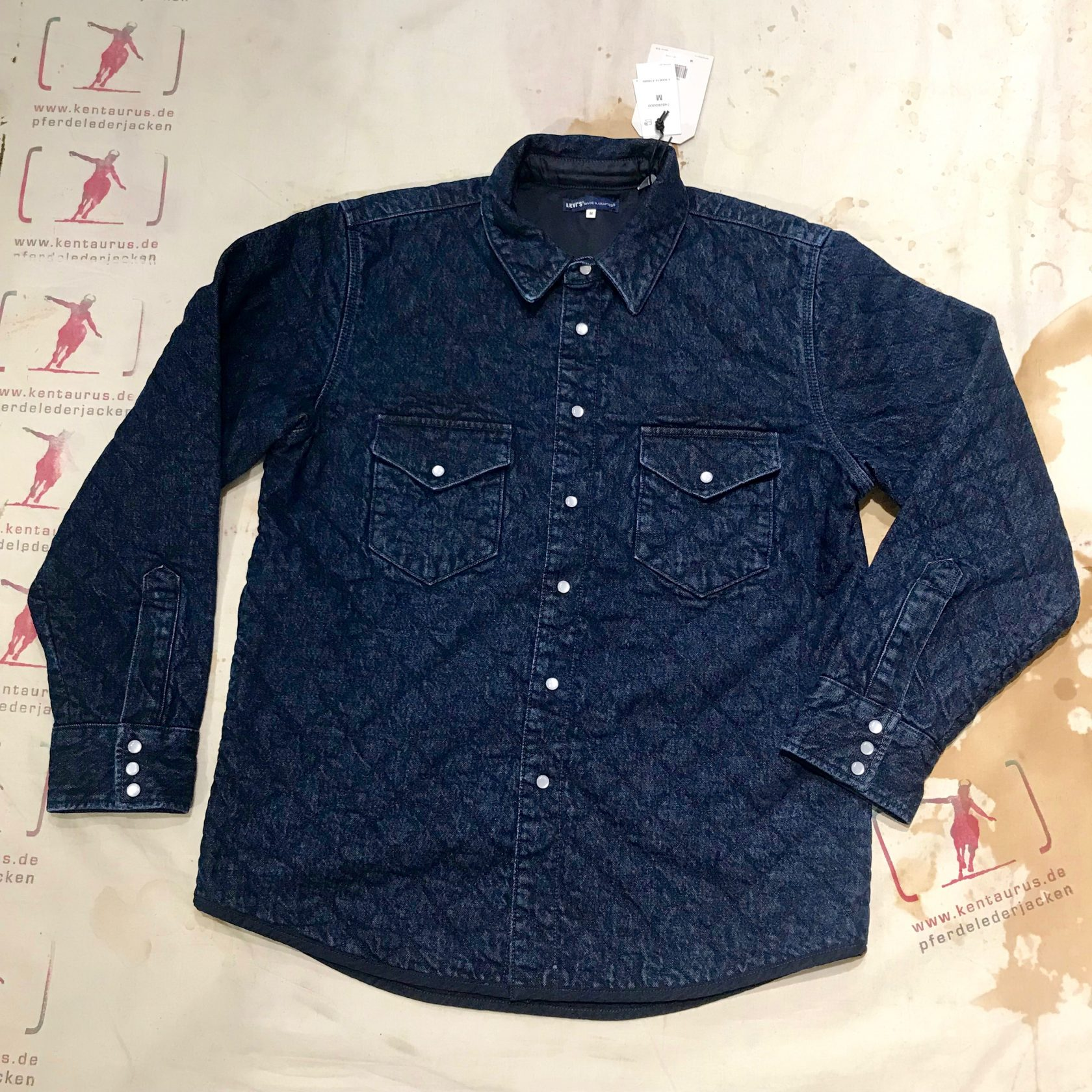 Levi`s Vintage quilted western shirt AW19