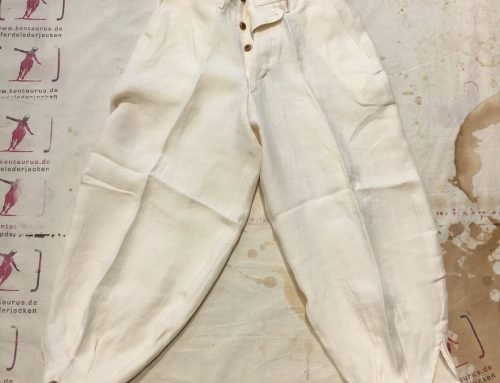 Haversack SS17 white linen pant