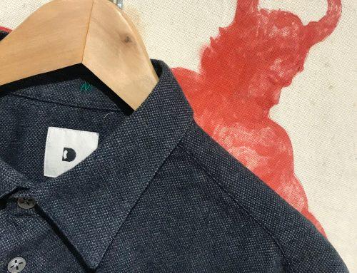 Delikatessen flannel shirt antracite