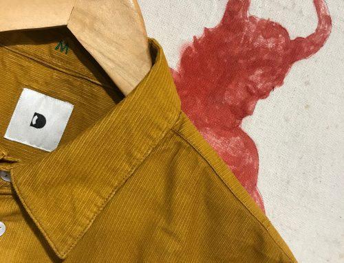 Delikatessen: yellow corduroy shirt