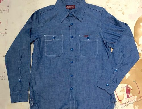 IHSH-133 indigo chambray work shirt