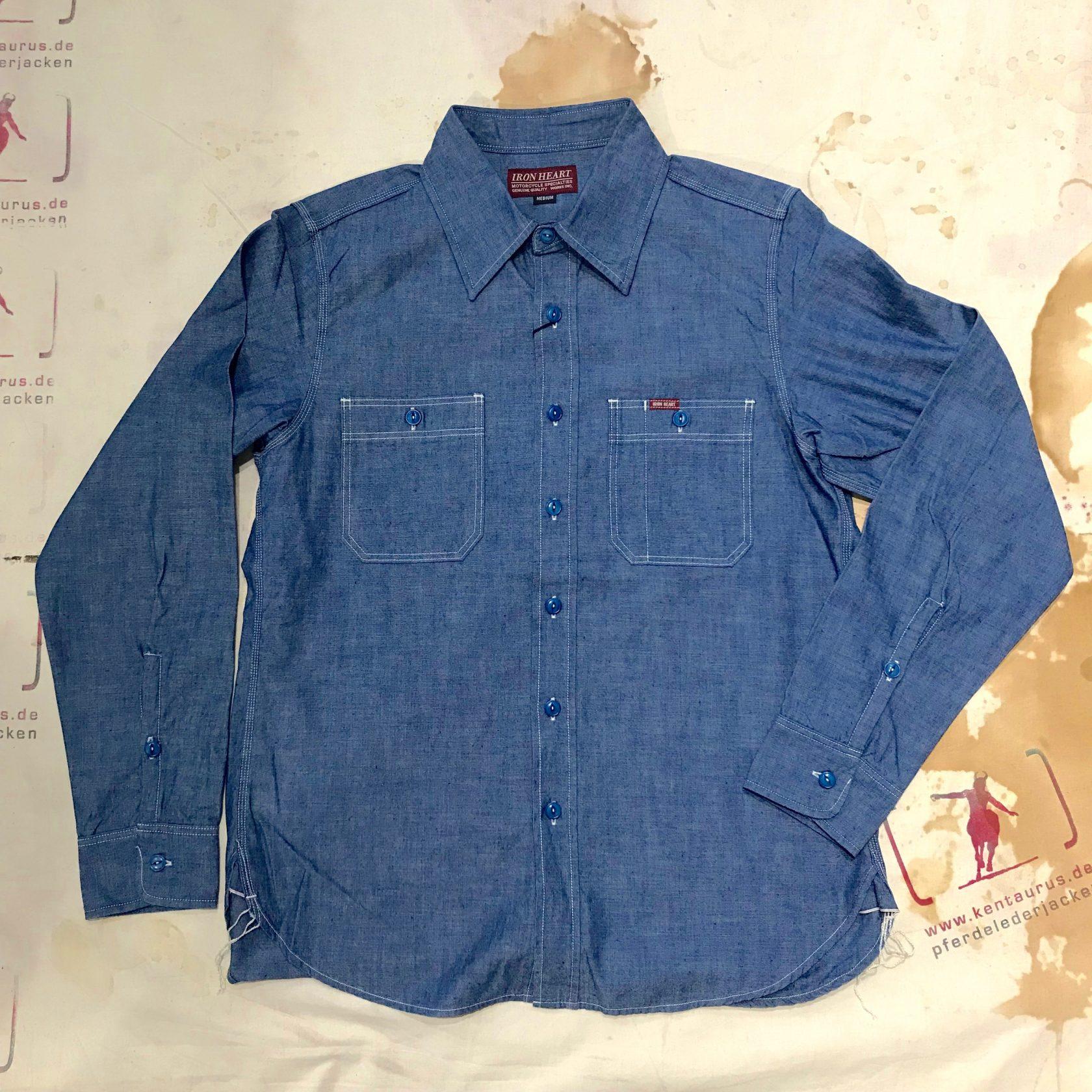 IHSH-133 indigo chambray work shirt