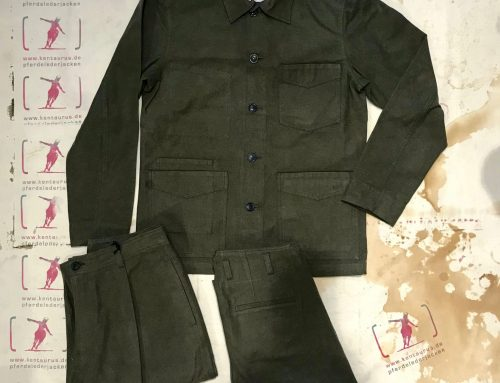 Hansen work suit taupe