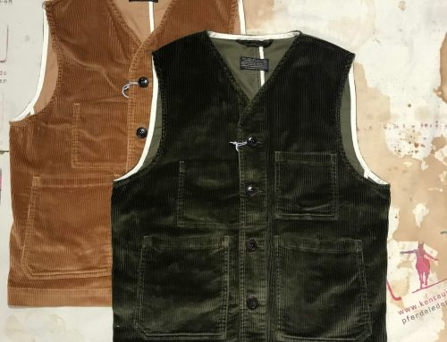 First Pat-rn: cantiere cord vests