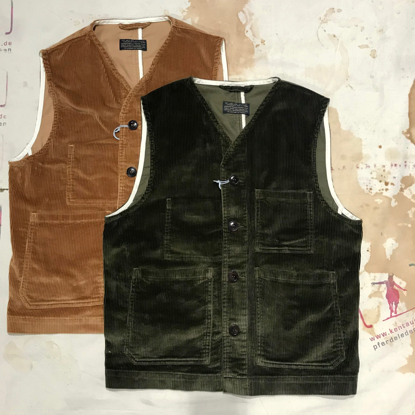 1st Pat-rn: cantiere cord vests