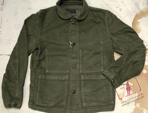 First Pat-rn: laboratorio moleskin jacket