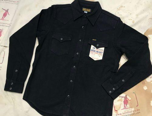 IHSH-239 BLK  herringbone western shirt