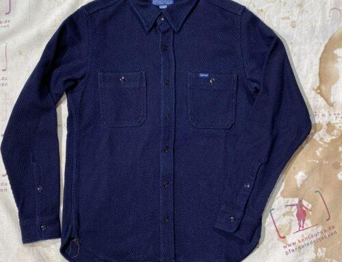 Iron Heart  IHSH-288 IND 14oz kersey work shirt  indigo