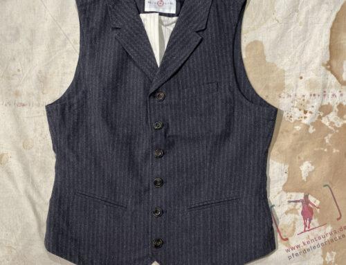 Hansen william lapel waistcoat grey pinstripe