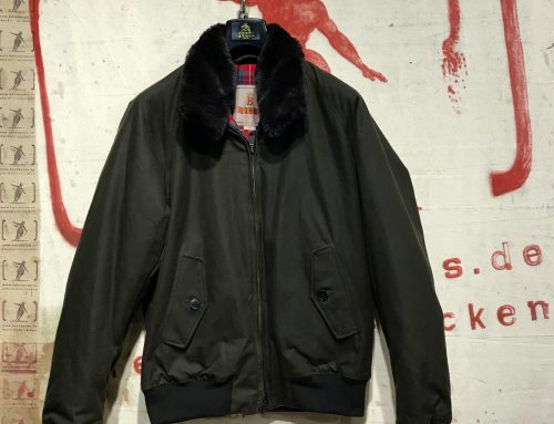 Baracuta G-9 fur collar dark moss