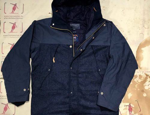 Ceccarelli 2tone mountain jacket navy blue