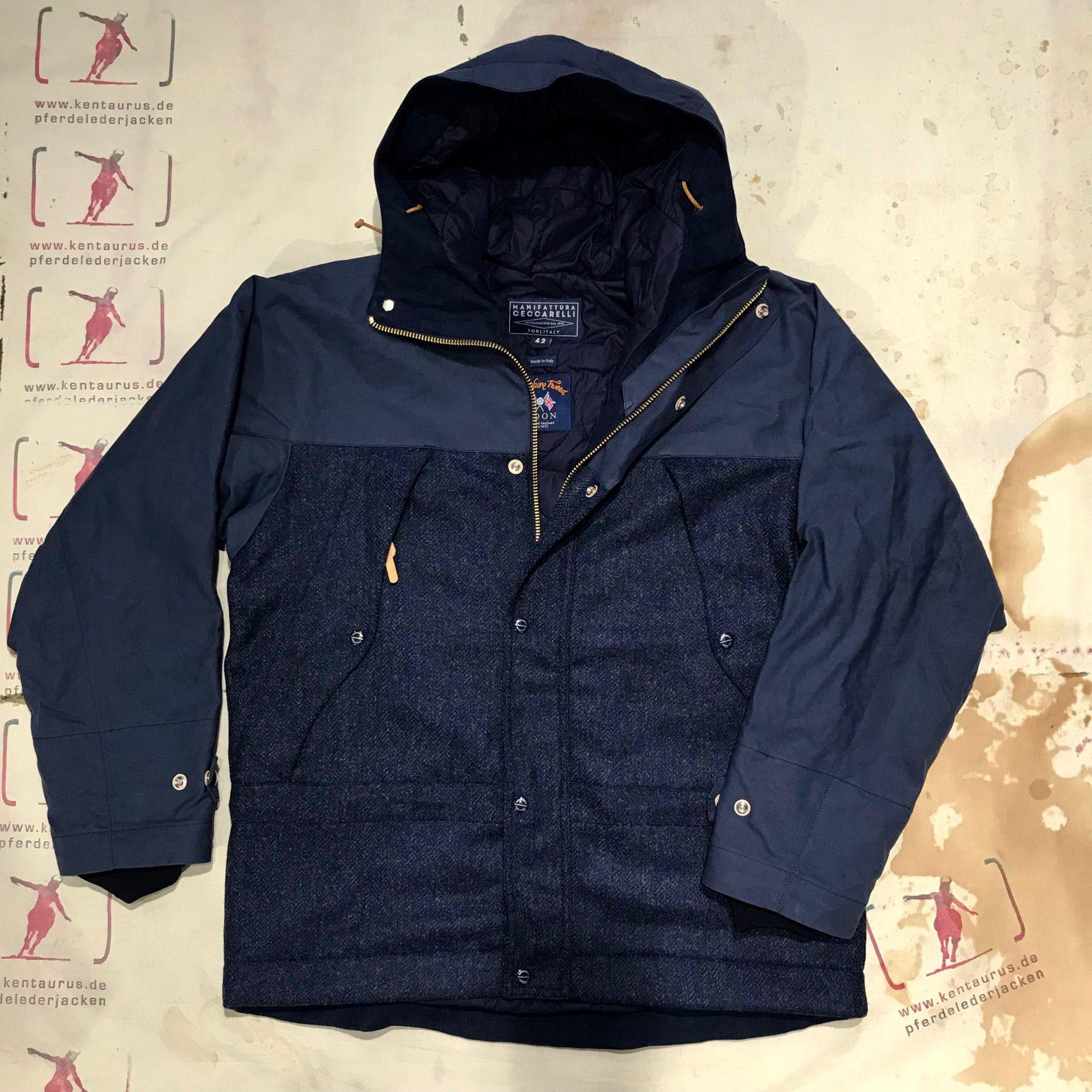 Ceccarelli 2tone mountain jacket navy blue