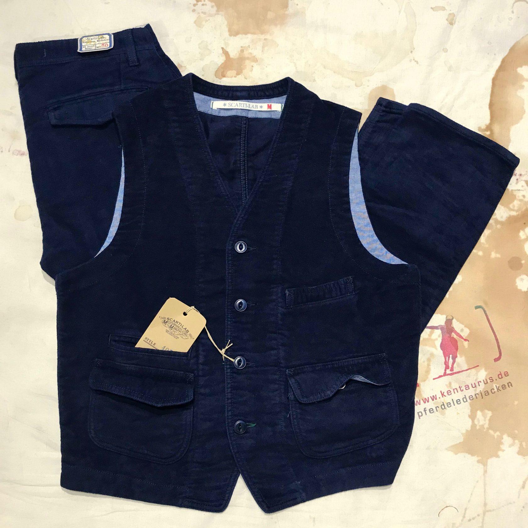 Scartilab moleskin vest and pant
