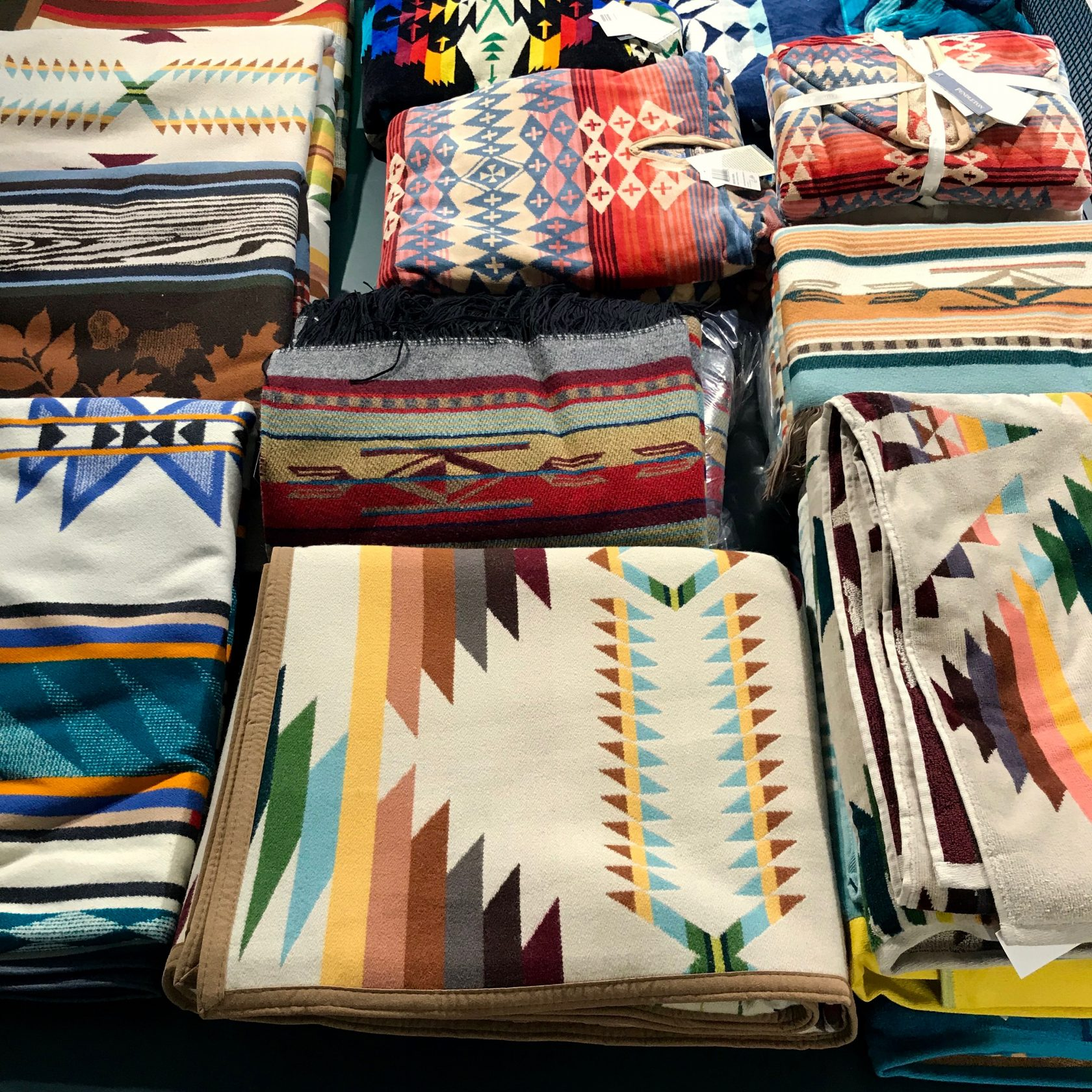 Pendleton blankets and towels