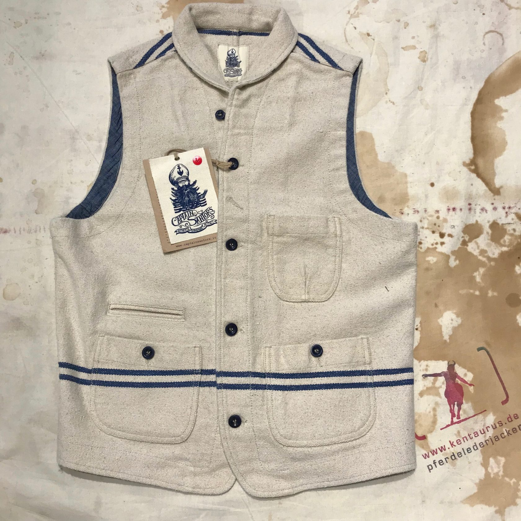 Captain Santors wool vest nature