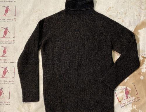 Seldom herren rollkragen pullover wolle schwarz braun
