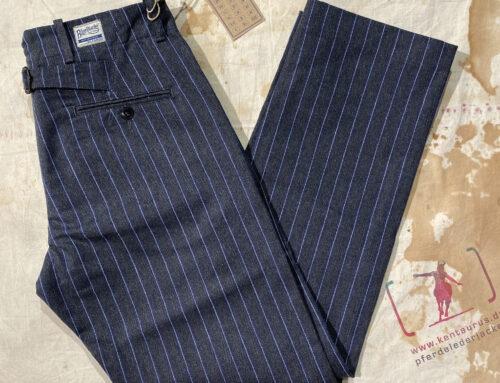 Blue blanket striped cotton  pant P04