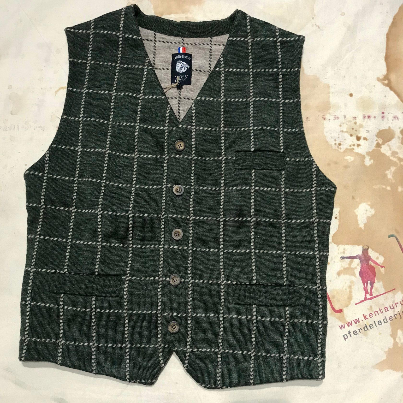 A Piece of Chic westminster wool vest