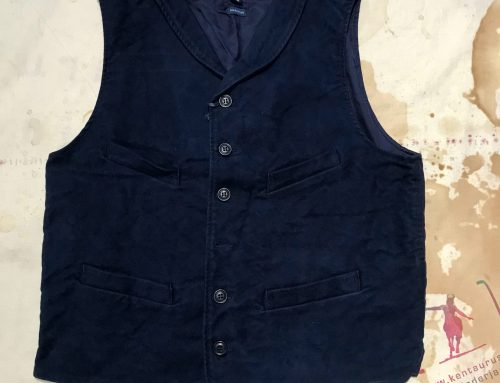 Ceccarelli  classic  moleskin vest navy blue