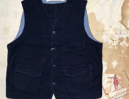 Scartilab cotton vest indigo
