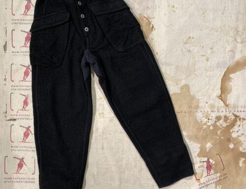 MotivMfg british military sweatpants waffle double cloth black